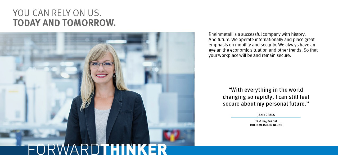 Forwardthinker - Janine Pals - Rheinmetall Group Career Prospects